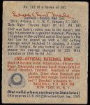 1949 Bowman #118  Sam Mele  Back Thumbnail
