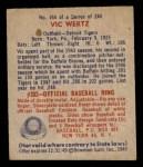1949 Bowman #164  Vic Wertz  Back Thumbnail