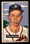 1951 Bowman #42  Vern Bickford  Front Thumbnail