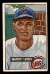 1951 Bowman #318  Warren Hacker  Front Thumbnail