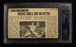1964 Topps Giants #3  Sandy Koufax  Back Thumbnail