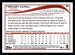 2014 Topps #35  Trevor Cahill  Back Thumbnail