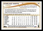 2014 Topps #91   -  Starling Marte Future Stars Back Thumbnail