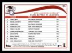 2014 Topps #153   -  Chris Davis / Miguel Cabrera / Adam Jones 2013 AL RBI Leaders Back Thumbnail