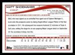 2014 Topps #163  Matt Shoemaker  Back Thumbnail