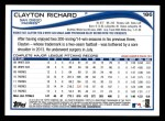 2014 Topps #186  Clayton Richard  Back Thumbnail