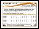 2014 Topps #188  Mark Melancon  Back Thumbnail