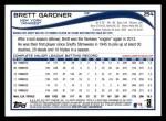 2014 Topps #254  Brett Gardner  Back Thumbnail
