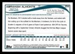 2014 Topps #256  Abraham Almonte  Back Thumbnail