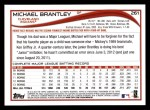 2014 Topps #261  Michael Brantley  Back Thumbnail