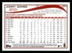 2014 Topps #274  Jonny Gomes  Back Thumbnail