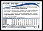 2014 Topps #280  Everth Cabrera  Back Thumbnail