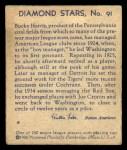 1935 Diamond Stars #91  Bucky Harris    Back Thumbnail