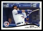 2014 Topps #323  Jose Bautista  Front Thumbnail