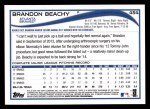 2014 Topps #454  Brandon Beachy  Back Thumbnail