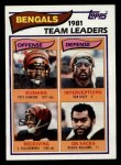 1982 Topps #36   Bengals Leaders Front Thumbnail