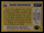 1982 Topps #43  Ross Browner  Back Thumbnail