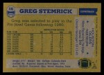 1982 Topps #106  Greg Stemrick  Back Thumbnail
