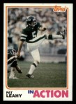 1982 Topps #174   -  Pat Leahy In Action Front Thumbnail