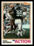 1982 Topps #168   -  Mark Gastineau In Action Front Thumbnail
