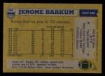 1982 Topps #163  Jerome Barkum  Back Thumbnail