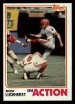 1982 Topps #287   -  Mick Luckhurst In Action Front Thumbnail
