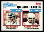 1982 Topps #259   -  Joe Klecko / Curtis Greer QB Sack Leaders Front Thumbnail