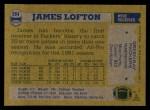 1982 Topps #364  James Lofton  Back Thumbnail