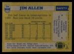 1982 Topps #334  Jim Allen  Back Thumbnail