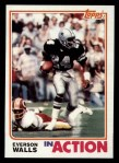 1982 Topps #328   -  Everson Walls In Action Front Thumbnail