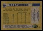 1982 Topps #513  Joe Lavender  Back Thumbnail