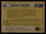 1982 Topps #504  James Owens  Back Thumbnail