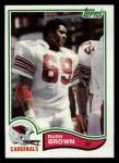 1982 Topps #466  Rush Brown  Front Thumbnail