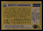 1982 Topps #416  Scott Brunner  Back Thumbnail