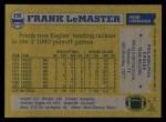 1982 Topps #450  Frank LeMaster  Back Thumbnail