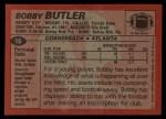 1983 Topps #16  Bobby Butler  Back Thumbnail