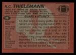 1983 Topps #26  R.C. Thielemann  Back Thumbnail