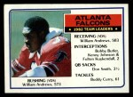 1983 Topps #13   -  William Andrews / Bobby Butler / Kenny Johnson / Fulton Kuykendall / Don Smith / Buddy Curry Falcons Leaders Front Thumbnail