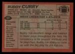 1983 Topps #17  Buddy Curry  Back Thumbnail