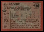 1983 Topps #176  Bill Capece  Back Thumbnail