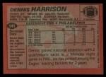 1983 Topps #141  Dennis Harrison  Back Thumbnail