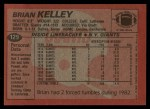 1983 Topps #129  Brian Kelley  Back Thumbnail