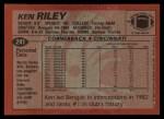 1983 Topps #241  Ken Riley  Back Thumbnail