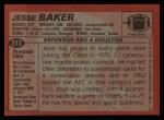 1983 Topps #273  Jesse Baker  Back Thumbnail