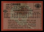 1983 Topps #223  Joe Cribbs  Back Thumbnail