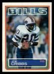 1983 Topps #223  Joe Cribbs  Front Thumbnail