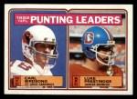 1983 Topps #207   -  Carl Birdsong / Luke Prestridge Punting Leaders Front Thumbnail