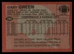 1983 Topps #286  Gary Green  Back Thumbnail