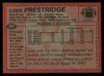1983 Topps #267  Luke Prestridge  Back Thumbnail