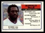 1983 Topps #219   -  Joe Cribbs / Frank Lewis / Bill Simpson / Sherman White / Ben Williams / Bill Simpson Bills Leaders Front Thumbnail